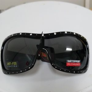 Motorcycle rhinestone sunglasses